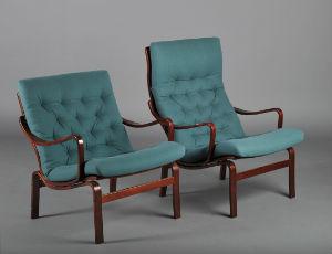 Fauteuils su dois design scandinave - Canape suedois vintage ...